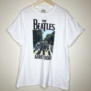 THE BEATLES Distressed Oversized Graphic Tee
